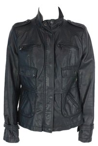 Kenneth Cole Long Sleeve Faux Leather Motorcycle Jacket