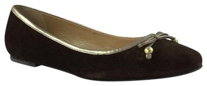 Lilly Pulitzer Suede Ballet Gold Brown Flats