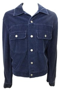 Gap Corduroy Button Down Collared Heavy Navy Jacket