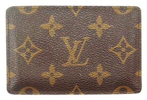 Louis Vuitton Vintage Monogram Canvas Leather Slim Pocket Wallet France