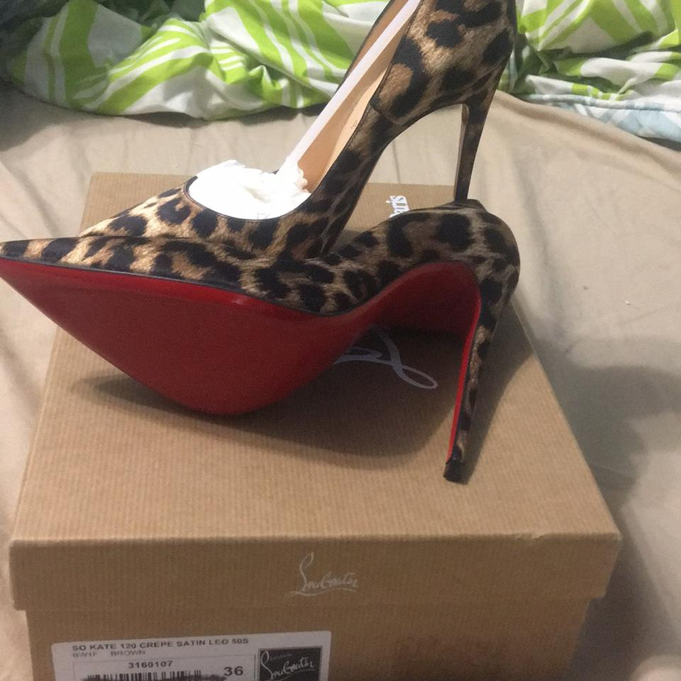 4a150a5069fd Christian Louboutin Leopard-print So Kate Red Bottom Pumps Size US 6 ...