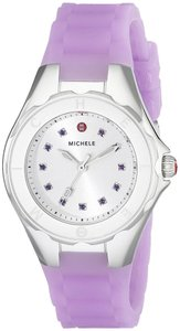 Michele Michele Women's Tahitian Jelly Bean Silver Purple Watch MWW12P000009