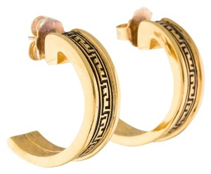 Fendi Gold-tone metal Fendi logo J-hoop earrings