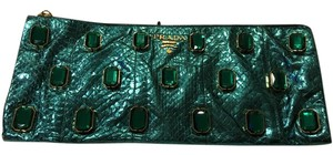 Prada Teal Clutch