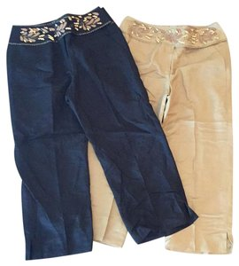 Larry Levine Capris black pair and tan pair