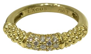 Lagos Lagos Caviar 18kt Yellow Gold Pave Band size 7