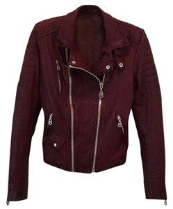 DOMA Burgundy Leather Jacket