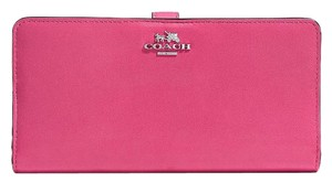 Coach COACH Madison Slim Skinny Wallet in Leather Dahlia Pink 51936 Nwt