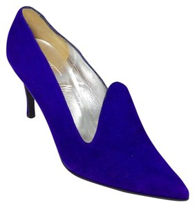 Thierry Mugler Suede Royal Purple Pumps