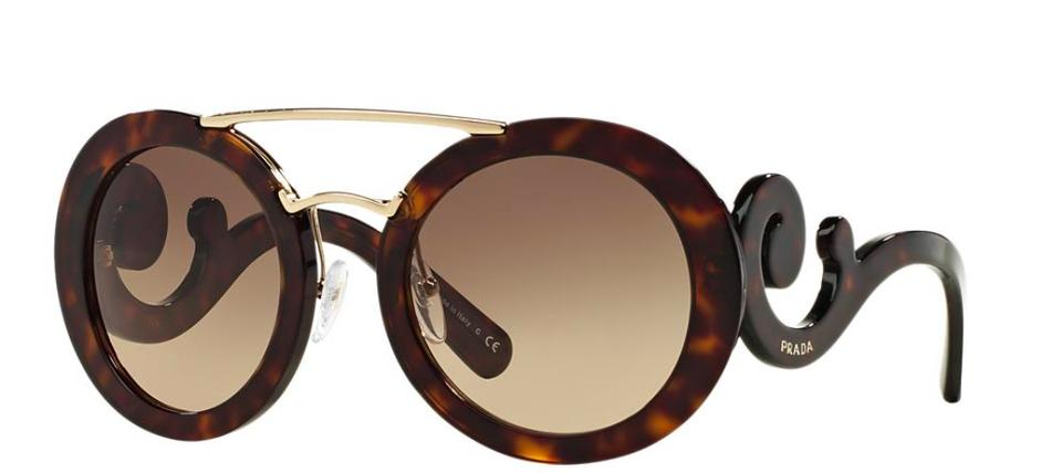 e6d8d69502dd Prada Havana with Gold Trim and Gradient Lens Baroque Evolution 13ss 2au3do  Free 3 Day Shipping Sunglasses
