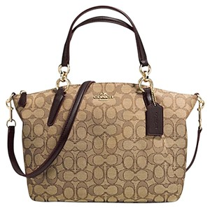 Coach 36625 F36625 Satchel in KHAKI/BROWN
