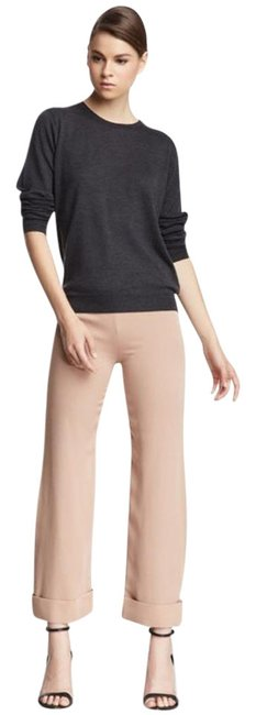 Item - Blush Pink Silk Cropped Trousers Pants Size 8 (M, 29, 30)