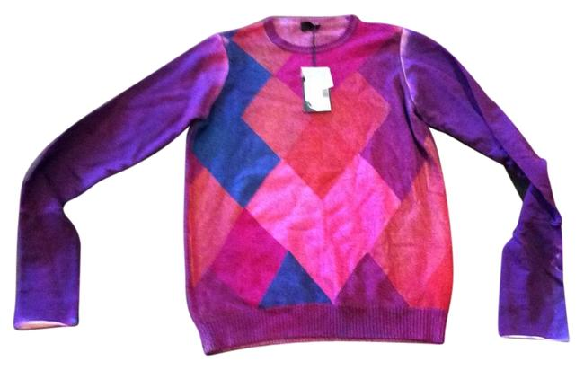 Item - 3-4 Ply Cashmere with Sweatshirt Arms Purples Sweater