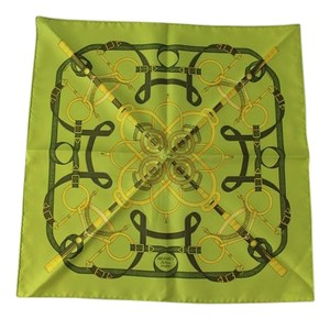 Hermès Eperon D'or Lime Scarf