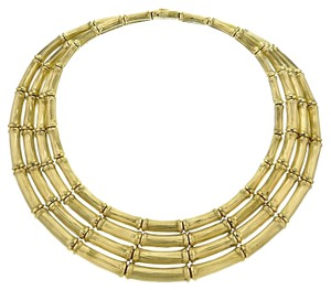 Cartier Vintage Cartier 4-row Bamboo Choker Necklace in 18k Yellow Gold