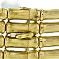 Cartier Vintage Cartier 4-row Bamboo Choker Necklace in 18k Yellow Gold Image 1