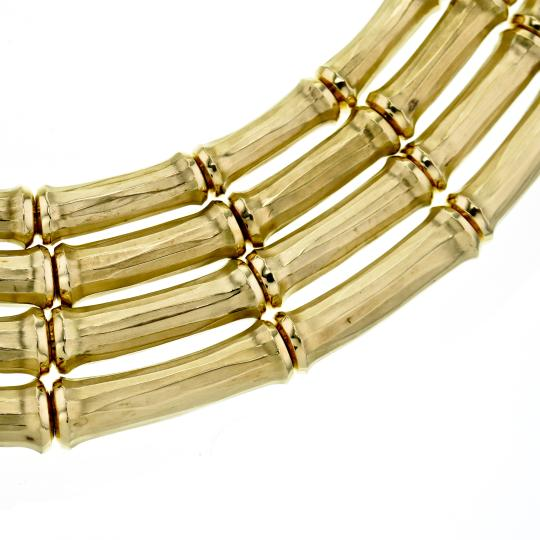 Cartier Vintage Cartier 4-row Bamboo Choker Necklace in 18k Yellow Gold Image 4