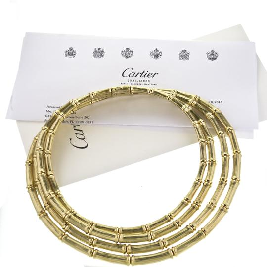 Cartier Vintage Cartier 4-row Bamboo Choker Necklace in 18k Yellow Gold Image 6
