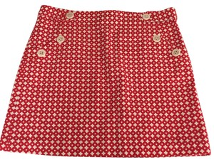 J.Crew Mini Skirt Red and white