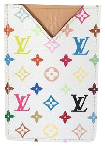 Louis Vuitton White Multicolor ID Holder RARE