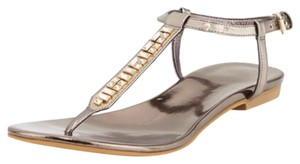 Cole Haan Jeweled Gunmetal Sandals