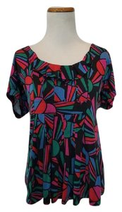 Marc by Marc Jacobs Multi Color Short Sleeve Top Blue, Red, Green, Black