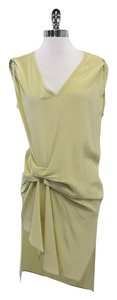 AllSaints short dress Soft Lime Green Silk Draped on Tradesy