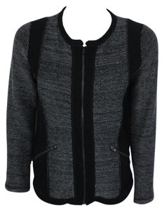 Other Moto Textured Zip Up Jacket Sweater