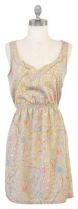 Forever 21 short dress Beige Floral Pattern on Tradesy