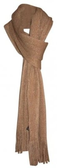Unknown New w/Tags Super Soft Tan & Metallic Gold Scarf
