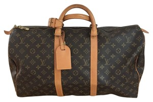 Louis Vuitton Monogram Suitcase Duffle Overnight Vintage Travel Bag