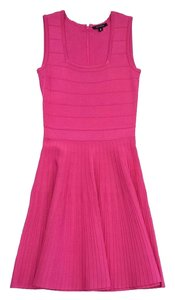 Pink Tartan short dress Hot Pink Fit & Flared Sleeveless on Tradesy