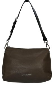 Michael Kors Mk Leather Silver Hardware Classic Shoulder Bag