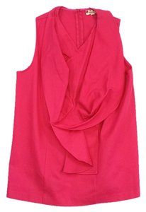 Marni Fuchsia Cotton Sleeveless Top