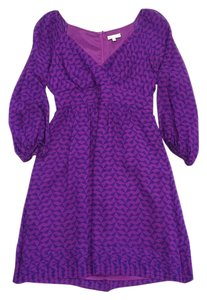 Shoshanna short dress Purple & Blue Long Sleeve on Tradesy