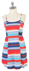 Mossimo Supply Co. short dress Red, White, Blue + Orange Bohemian Tribal Striped on Tradesy