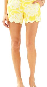 Lilly Pulitzer Mini/Short Shorts Yellow and white