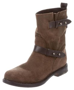 Rag & Bone Leather Moto Winter Fall Brown Boots