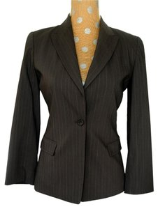 Elie Tahari One Button Petite Brown Blazer