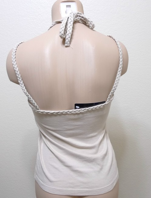 Mango Braided Top ivory
