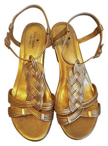 Kate Spade Wedge Gold Sandals