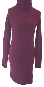 White + Warren short dress Burgundy on Tradesy