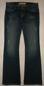 BKE Back Flap Pockets Zip Fly Cotton/spandex Boot Cut Jeans-Dark Rinse