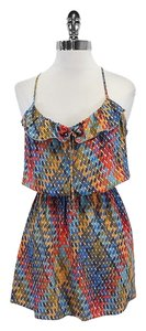 Parker short dress Geo Print Silk Racer on Tradesy