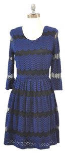 Francesca's Scalloped Chevron Crochet Dress