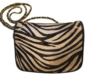 LJ Simone Chain Strap Zebra Vintage Cross Body Bag