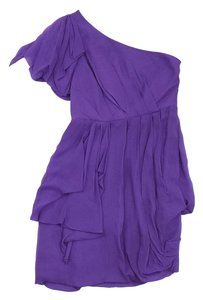 Tibi short dress Purple Chiffon Gathered on Tradesy