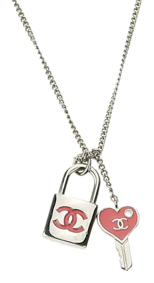 cz necklacesstatic bling pendant sparkling necklace lock embedded and is heart key shaped
