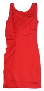 Halston short dress Electric Crimson Gathered on Tradesy