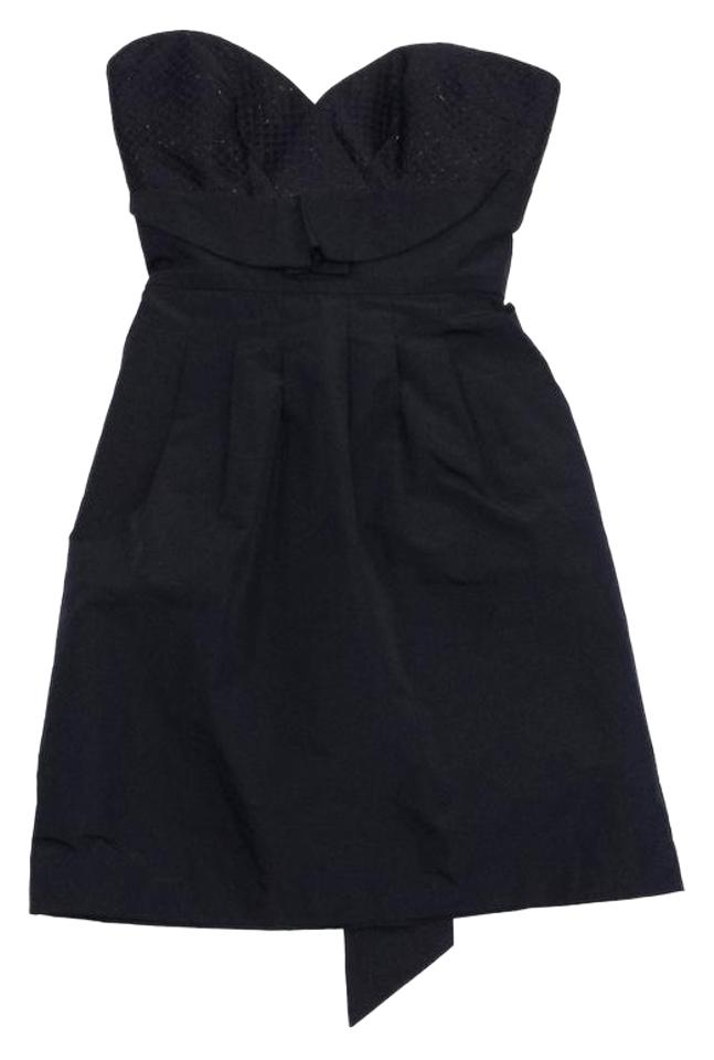 Bcbgmaxazria Black Strapless Sweetheart Mini Short Casual Dress Size